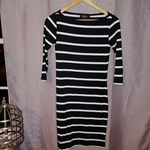 Lulus Striped Bodycon Dress